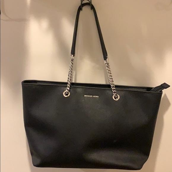 3be5734c2414b5 Michael Kors Bags | Jet Set Black Signature Tote Handbag | Poshmark